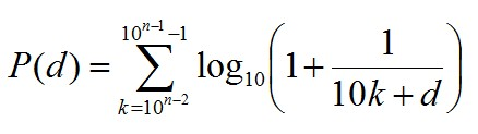 Generalised Benford's Distribution Formula