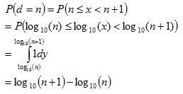 Probability of d=n