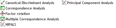 TANAGRA factorial analysis components