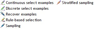 TANAGRA instance selection components