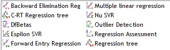 TANAGRA regression components