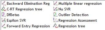 TANAGRA regression components