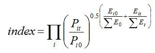 Tornqvist index formula