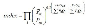 Törnqvist index formula