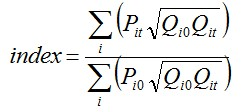 Walsh index formula