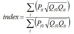 Walsh index formula