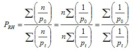 Ratio of harmonic means index formula