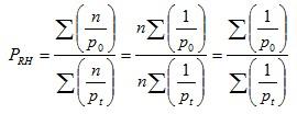 Ratio of harmonic means index formula